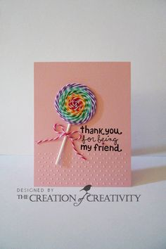 Thank you for being my friend Stamps:  Hello Friend  (Lawn Fawn) Ink:  Graphite Black (Tsukinek) Embosing Folders: Swiss Dots (Cuttlebug) Fi...