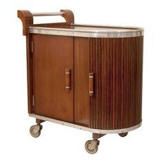French Art Deco Bar Cart - Wish this was mahogany!
