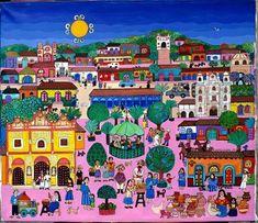 'San Cristóbal', Beatriz Aurora / pintura, arte zapatista