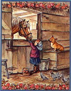 Tasha Tudor /Girl with Horse
