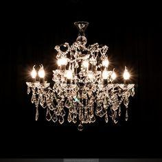 法式复古/北欧风/欧式新古典奢华 15头水晶吊灯 多头客厅灯-淘宝网