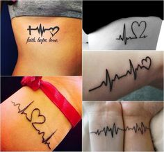 Tatuagens de batimentos cardíacos