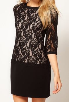 Black Back Hollow Embroidery Lace Dress http://www.sheinside.com/Black-Back-Hollow-Embroidery-Lace-Dress-p-107192-cat-1727.html
