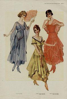 1916 vintage dresses illustration 1910s fashion