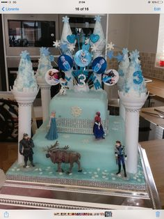 I created and made this frozen cake for my granddaughter x