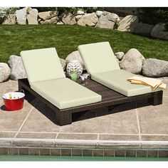Have To Have Next To A Lovely Blue Pool :) · Chaise Lounge OutdoorContemporary  ...