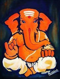 Ganesha Drawing, Lord Ganesha Paintings, Ganesha Art, Krishna Painting, Ganesha Tattoo, Ganesha Pictures, Indian Art Paintings, Abstract Paintings, Tanjore Painting