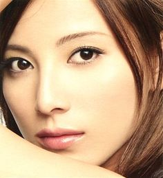 Ai Kato (Japanese actress) in REVUE 2006 (Kanebo Cosmetics). Lady make up.