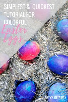 Arty's Getaway: The simplest & quickest way to pretty colorful Easter eggs when u don't feel like experimenting too much or just don't have time to do so!