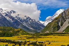Mount Cook, New Zealand - a location for  The Lord of the Rings