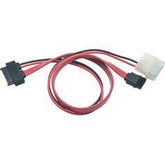 Tripp Lite 12in Slimline Sata to Sata LP4 Power Cable Adapter #P948-12I