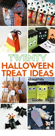 Learn how to make 20 Giftable Halloween Treats. Simple DIY craft tutorial ideas perfect for teacher gifts, coworker gifts, parties and trick or treaters!