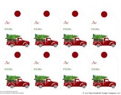 everyday enchanting Free Printable Vintage Truck & Christmas Tree Gift Tags http://www.everydayenchanting.com/truck-christmas-tree-gift-tags/ via bHome https://bhome.us