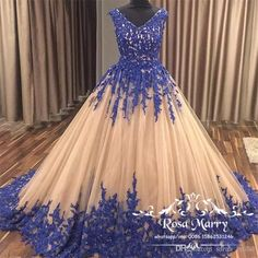 Champagne Ball Gown Arabic Prom Dresses 2018 Royal Blue Vintage Lace Tulle Sequins Sweet 16 Quinceanera Evening Party Gown for African Women Ball Gown Prom Dresses Dubai Prom Dresses 3D Floral Prom Dresses Online with $249.15/Piece on Sarah_bridal's Store | DHgate.com