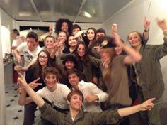 For the 18th birthday of my great friend, Côme. It was a surprise and as he wants to become a military, we all dressed up with military clothes. It was a very good party