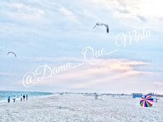 End of Summer Beach Sea Ocean Birds Umbrella #pink #blue #Red by DamnQueMala, $18.00