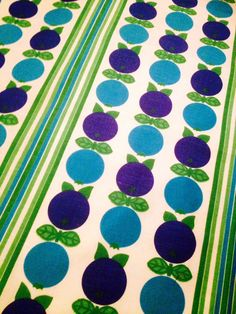 Swedish vintage retro fabric. 60s with a mod apple by Inspiria