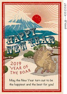 2019年賀状「クールデザイン02」シリーズ #2019年賀状 #年賀状テンプレート #2019年 #平成31年 #亥年 #年賀状 #テンプレート Student In Japanese, Japanese New Year, Sun Designs, Cool Designs, Year Of The Boar, Japanese Design, Japanese Style, New Year Card, Poster Prints