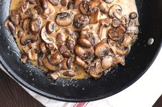 Steak with Creamy Mushroom Sauce . Substitute heavy whipping cream with half and half.