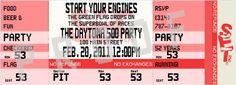 nascar themed birthday invitations | NASCAR Birthday Party Ticket Invitation