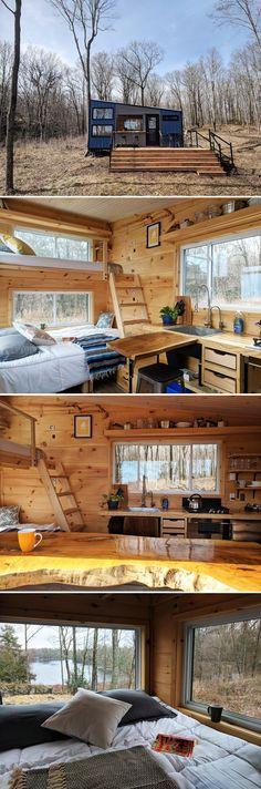 Located just minutes away from Ontario, Canada's Frontenac Provincial Park is the Penner by Cabinscape. This 160-square-foot off-grid cabin puts you close to 22 lakes and over 100km of looped backpacking and hiking trails.