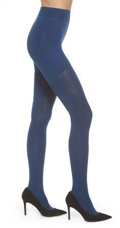 f627ea84f Blue Tights-Women s Hue Opaque Shaper Tights  18