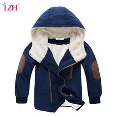 Daily Deals $13.50, Buy LZH 2017 Autumn Winter Jacket For Boys Jacket Kids Warm Hooded Wool Outerwear Coats Children Jacket Teenage Boys Clothes 12 Year