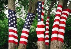 american flag colors for painting trees