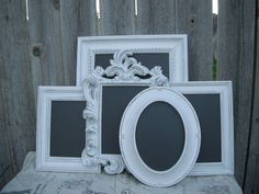 Framed chalkboards...