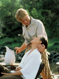 My favorite scene - Redford, charming. Streep, breathtaking.