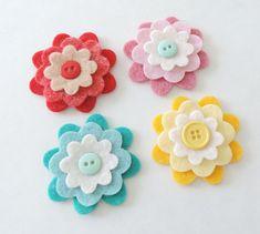 Felt Flower Headband - Baby Felt Headband, Toddler Headband, Girls Headband #collectible #etsymnt