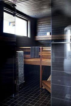 Sauna Finnish Sauna, Sauna Room, Spa Rooms, Architecture Board, Saunas, Western Red Cedar, Home And Living, My House, Beautiful Homes