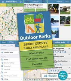 170 Berks County Parks on Your Phone - app from Reading Health System helps you easily find parks and trails! Review by BerksFun.com