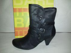 Bare Traps Sela Textile Ankle Boots Womens Size 10M Black Shoes Fashion Buckle