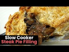In this video, I make a slow cooker steak pie filling that is both chunky and tender. The rich gravy helps takes this pie filling to a whole new level. Slow Cooker Steak Pie, Slow Cooker Recipes, Crockpot Recipes, Pastry Recipes, Pie Recipes, Fall Recipes, Recipies, Easy Chips, English Food