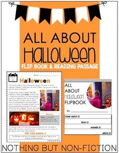 This pack contains a flipbook and reading passage on Halloween! Enjoy!