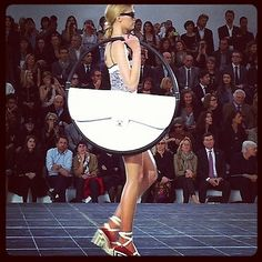 That famous, whimsical Chanel hula hoop bag!