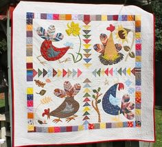 Love these chickens from the running chicken quilting co. Four Seasons Chicken Pattern by The Running Chicken