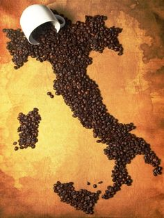 Coffee Bean Art - Italy.