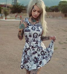 Serial Killer Mugshot Dress by Western Evil