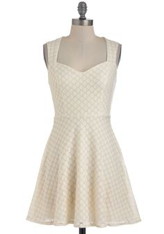 Box of Powdered Donuts Dress - Cream, Cutout, Party, A-line, Sleeveless, Summer, Short, Solid