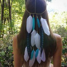 A custom piece made for a boho bride  . . . . . #headband #hairjewelry #featherheadband #boho #bohemian #gypsy #gypsysoul #coachella #festival #statementpiece #edm #edc #pocahontas #tribal #hippie #bride #bohostyle #bohochic #fashionblogger #bohowedding #bohovibes #festivalstyle #featherheadpiece #festivalseason #festivalfashion #gypsystyle #wanderlust #festivallife #liveauthentic #hairstyle