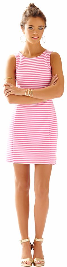 LILLY PULITZER WHITING CUT-OUT SHIFT DRESS
