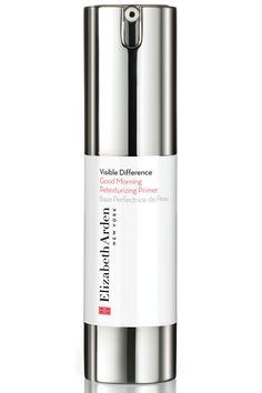 Designed to invigorate the skin, this primer is loaded with anti-aging benefits. Retinyl linoleate helps improve skin tone, grape seed extract brightens dull areas and avocado extract provides a dewy finish under foundation. Elizabeth Arden Visible Difference Good Morning Retexturizing Primer, $34, elizabetharden.com.   - HarpersBAZAAR.com