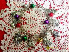 Christmas Jingle bell Charm Bracelet by angelsandcrafts on Etsy, $15.00