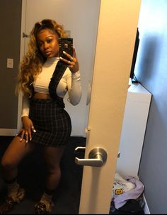 Hair And Beauty Award Code: 2345221300 Girl Outfits, Cute Outfits, Fashion Outfits, Summer Birthday Outfits, Amour Jayda, Winter Fits, Black Girls Hairstyles, Urban Hairstyles, Black Girl Fashion
