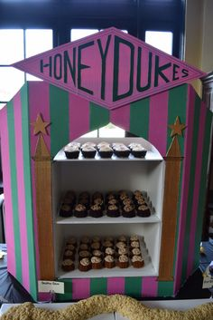 Honeydukes dessert table |How to Throw a Harry Potter Inspired Baby Shower