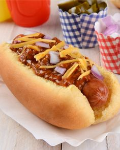Hot Dog Delish! | OK Foods Hot Dog Rolls, Hot Dog Buns, Hot Dogs, Grated Cheese, Cheddar Cheese, Vienna Sausage, Oven Dishes, Sausage Recipes, Delish