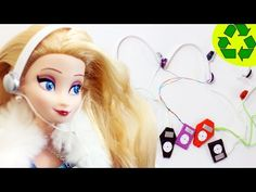 How to make doll mp3 player with headphones - Doll Crafts - YouTube