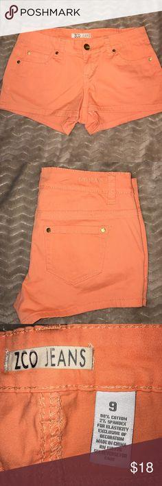 Cute orange color shorts (very lightly used) Cute orange shorts inseam 2 1/2 ZCO Shorts